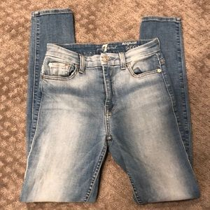 7 for all mankind High waist Skinny Jeans 26